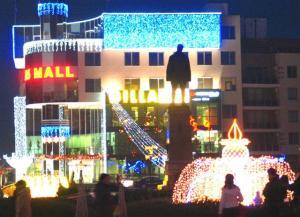Разкрасеният център на Силистра за предстоящите празници - Коледа и Нова година