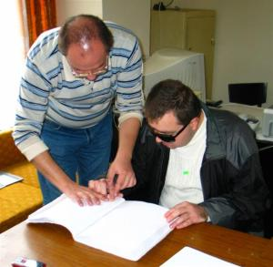 Румен Костадинов спечели второ място на състезанието по четене и писане по системата на Брайл